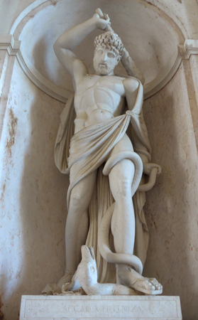 Portugal, Lisboa, Palácio da Ajuda, statue, Acção Virtuoza