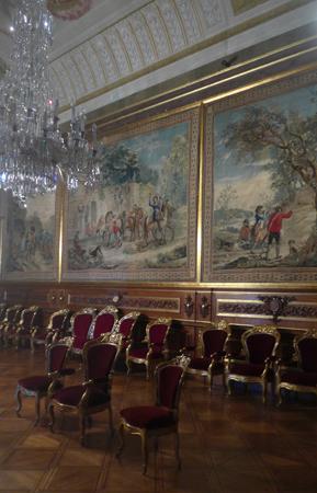 Portugal, Lisboa, Palácio da Ajuda, Sala das Tapeçarias Espanholas
