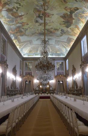 Portugal, Lisboa, Palácio da Ajuda, dining hall