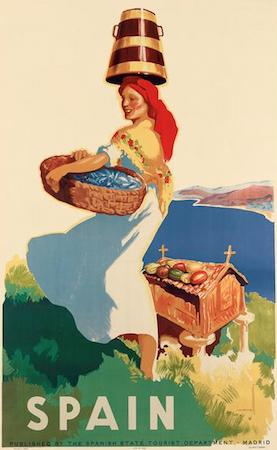 Spain, travel, poster Galicia