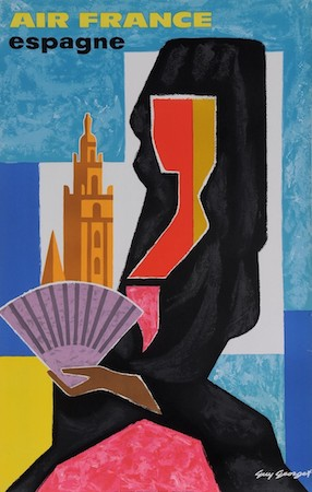 Spain, travel, poster, Guy Georget