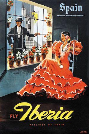Spain, travel, poster, Iberia