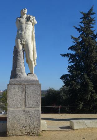 España, Andalucía, Itálica, statue, Trajan