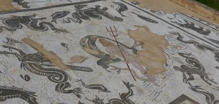 España, Andalucía, Itálica, mosaic, Neptune