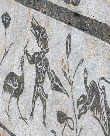 España, Andalucía, Itálica, mosaic, Neptune, pygmies