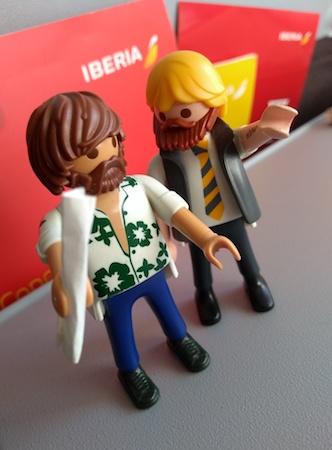 Robert, Rafa, Iberia, Playmobil, vacation