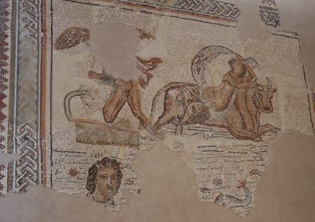 España, Spain, Andalucía, Écija, Palacio de Benamejí, Roman mosaic