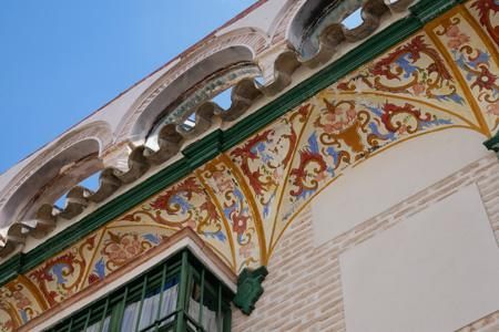 España, Spain, Andalucía, Écija, façade, fresco