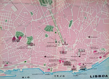 Portugal, Lisboa, Lisbon, Everest, 1973, mapa