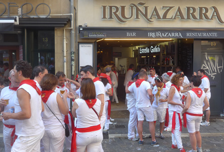 España, Spain, País Vasco, Basque Country, Pamplona, Iruña, Encierro, Running of the Bulls
