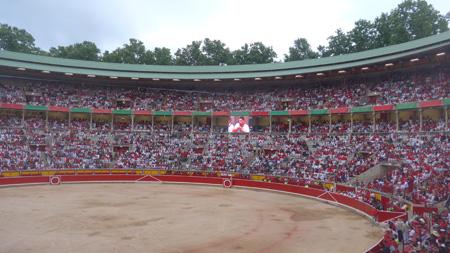 España, Spain, País Vasco, Basque Country, Pamplona, Iruña, Encierro, Running of the Bulls, Plaza de Toros