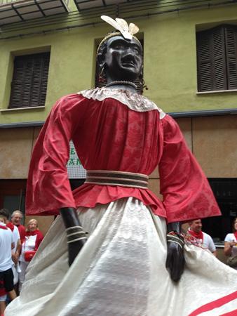 España, Spain, País Vasco, Basque Country, Pamplona, Iruña, Encierro, Running of the Bulls, gigante