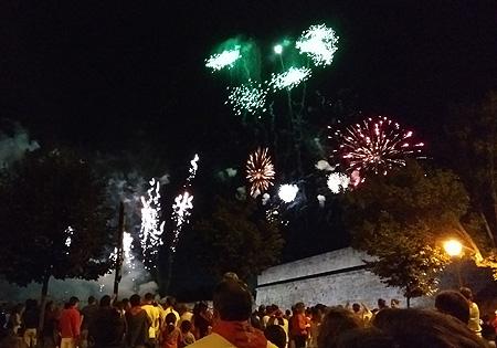 España, Spain, País Vasco, Basque Country, Pamplona, Iruña, Encierro, Running of the Bulls, fireworks