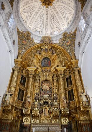 España, Andalucía, Osuna, Colegiata, iglesia, church, main altar, Baroque, Barroco