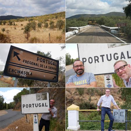 Portugal, Spain, border, sign, España