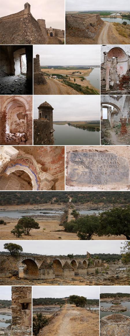 Portugal, Spain, border, Juromenha, Ponte da Ajuda, España