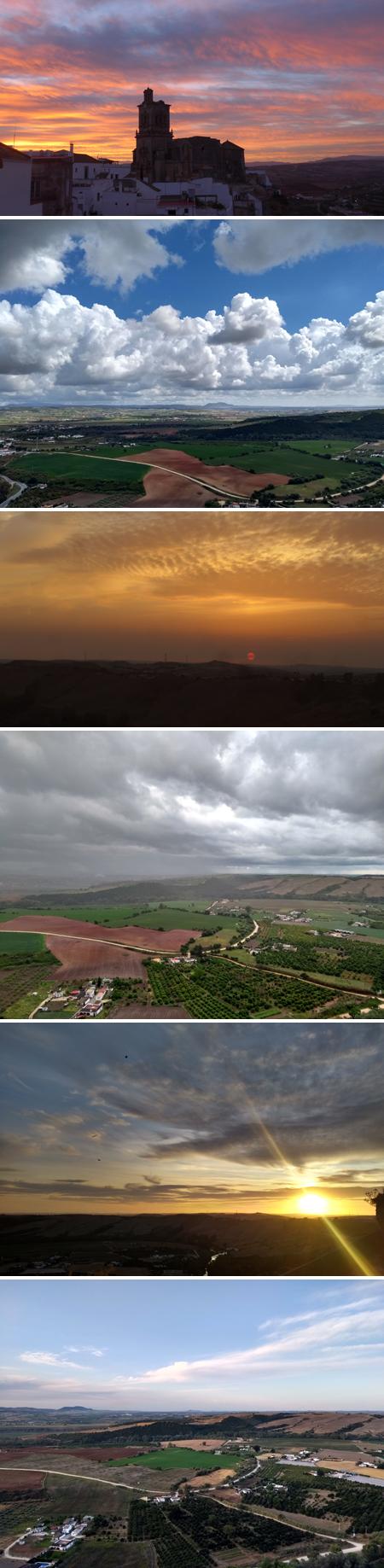 Arcos de la Frontera, panorama, sunrise, sunset