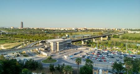 España, Spain, Andalucía, Sevilla, San Juan de Aznalfarache, Metro, panorama