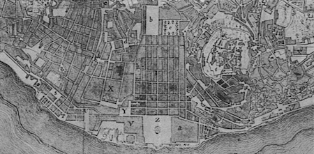 Portugal, Lisboa, 1785, Baixa, city plan