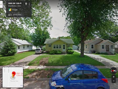 places lived, Des Moines, Iowa