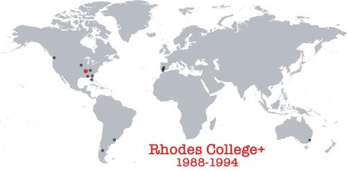 places lived, 1988-1994, USA, Memphis