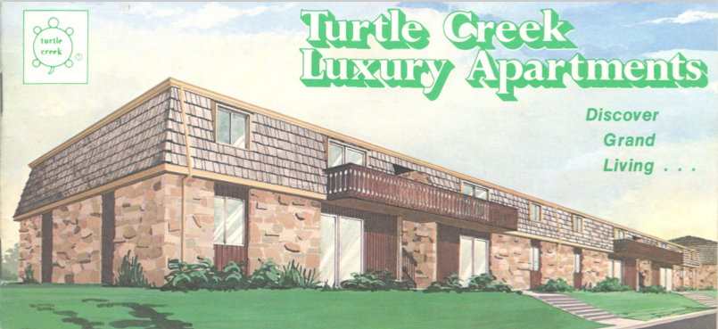 places lived, Memphis, Tennessee, Turtle Creek apartments, brochure