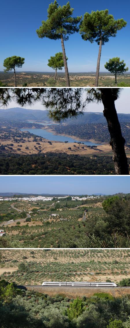 Spain, España, El Pedroso, train, hiking, Mirador de Alonso, panorama