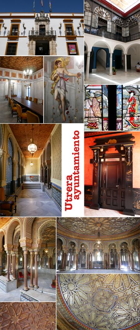 Spain, España, Andalucía, Utrera, ayuntamiento, town hall, salón árabe, salón pompeyano, salón chino
